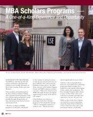 MBA Scholars Programs — - Alumni - University of Oklahoma