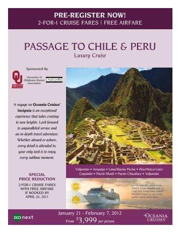 PASSAGE TO CHILE & PERU - Alumni - University of Oklahoma