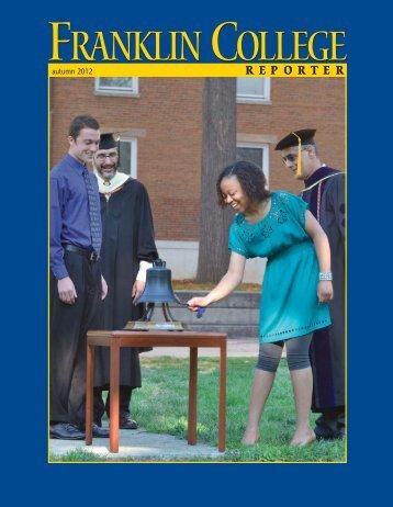 Reporter autumn12 1-14 - Franklin Alumni Network - Franklin College