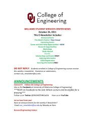ANNOUNCEMENTS - Alumni - University of Oklahoma