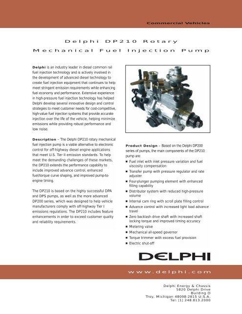 Delphi DP210 Rotary Mechanical Fuel Injection Pump