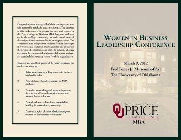 W omen in Business Leadership ConferenCe W omen in Business ...