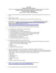 Fact Sheet British Media Study Abroad Gaylord College of ...