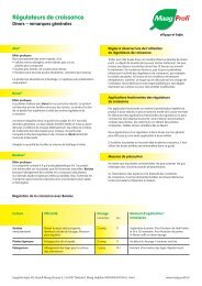 Régulateurs de croissance (PDF, 1.1 MB) - Maag Profi