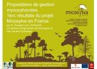Propositions de gestion mycosylvicoles, 1ers résultats du projet ...