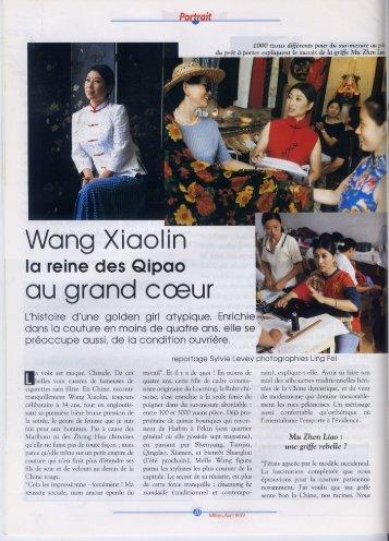 Wang Xiaolin - Sylvie Levey