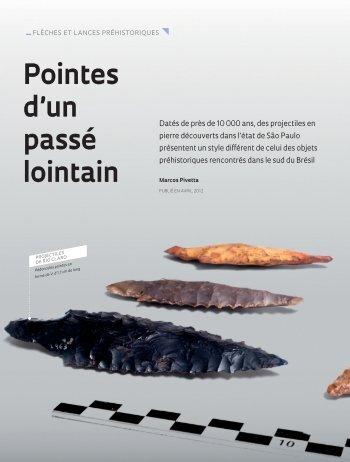 Pointes d'un passé lointain _FLÈCHES - Revista Pesquisa FAPESP