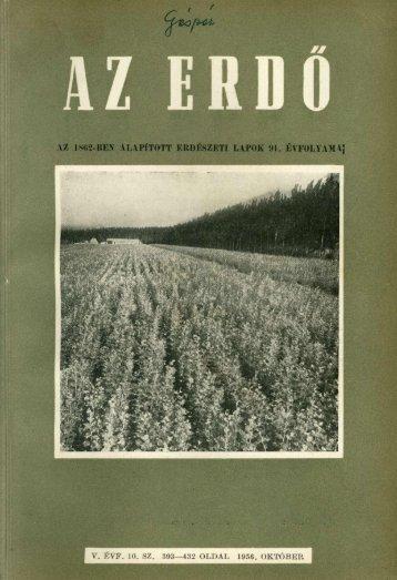 A szikes talajok fásítása - Erdészeti Lapok
