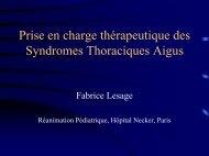 Prise en charge des syndromes thoraciques aigus - gfrup
