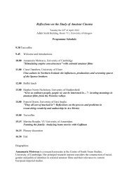 Programme. - Amateur Cinema Studies Network