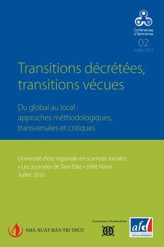 Transitions décrétées, transitions vécues - AFD