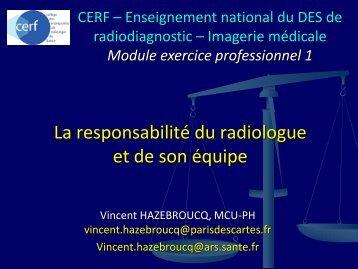 Responsabilité pénale - Société française de radiologie