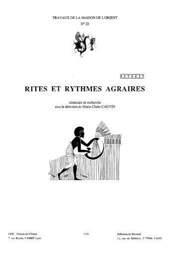 RITES ET RYTHMES AGRAIRES - HiSoMA