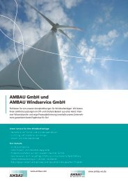 AMBAU GmbH und AMBAU Windservice GmbH