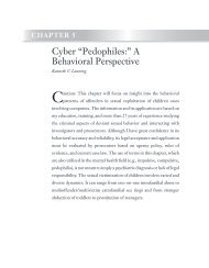 """Cyber """"Pedophiles:"""" A Behavioral Perspective"""