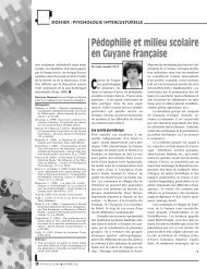 Pédophilie et milieu scolaire en Guyane française - Ordre des ...