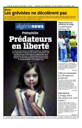 Pédophilie - Algérie news quotidien national d'information