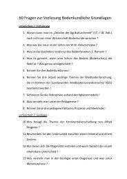 60 Fragen zur Vorlesung Bodenkundliche Grundlagen - Forstliches ...