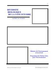 DIVERSITE BIOLOGIQUE DE LA COTE D'IVOIRE
