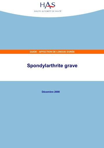 ALD 27 => SPONDYLARTHRITE GRAVE - Haute Autorité de Santé