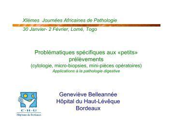 Classification des tumeurs b nignes lame virtuelle d - Cabinet d anatomie et cytologie pathologiques ...