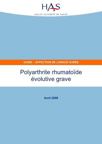 Polyarthrite rhumatoïde évolutive grave - Haute Autorité de Santé