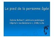 Mme Bollaert - Le pied de la personne âgée - PIRG