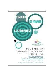 l'enseignement de promotion sociale catholique - SeGEC