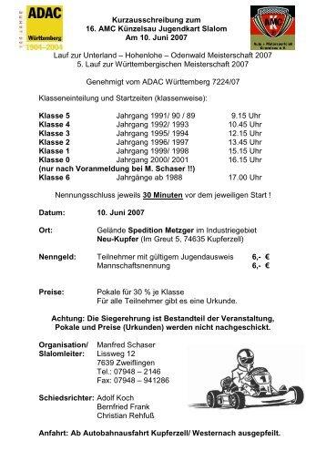 Ausschreibung (131k) - AMC Künzelsau