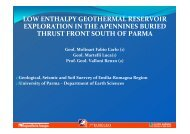 low enthalpy geothermal reservoir exploration in the ... - Ambiente