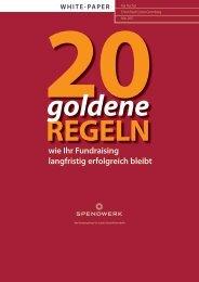 20 goldene Regeln wie Ihr Fundraising langfristig ... - Spendwerk