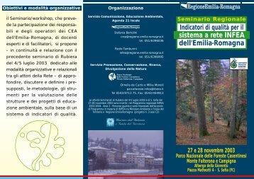 Programma - ER Ambiente - Regione Emilia Romagna