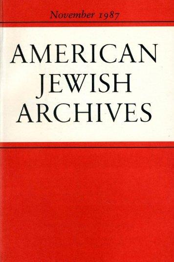 Brief Notices - American Jewish Archives