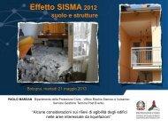 Effetto SISMA 2012 - Ambiente - Regione Emilia-Romagna