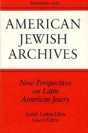 Introduction - American Jewish Archives
