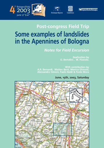 Some examples of landslides in the Apennines of Bologna - Ambiente