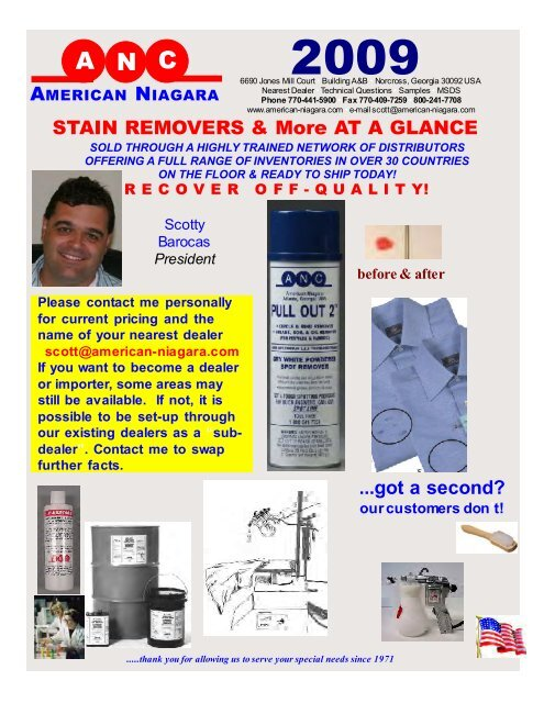 Spot Removers - American Niagara