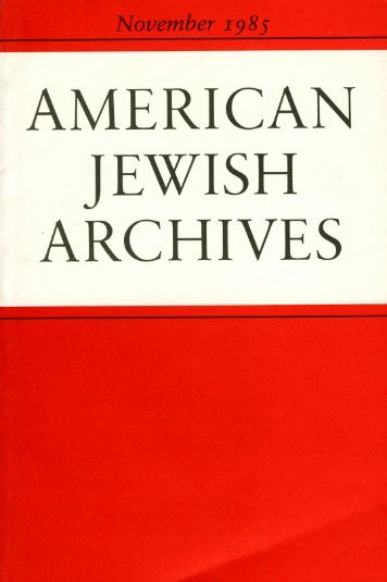 Contents - American Jewish Archives