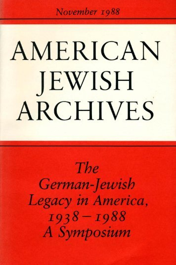 Bildung - American Jewish Archives