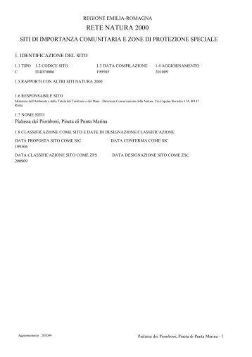 AA01 report biotopi - Regione Emilia-Romagna