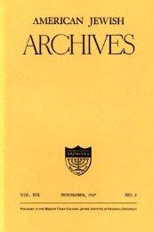 The Mestizo Jews of Mexico - American Jewish Archives