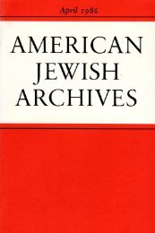 Review - American Jewish Archives