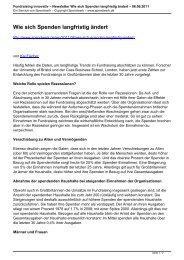 Fundraising innovativ – Newsletter Wie sich Spenden ... - Spendwerk