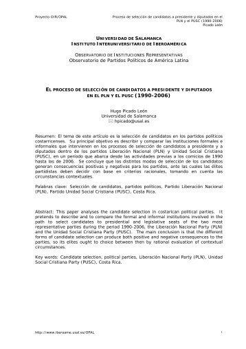 cuando las primarias son secundarias - Instituto de Iberoamerica ...