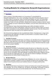 Fundraising innovativ – Newsletter 10/2011 - Spendwerk