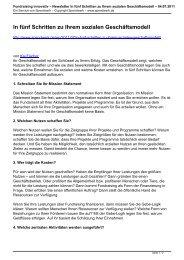 Newsletter In fünf Schritten zu Ihrem sozialen ... - Spendwerk