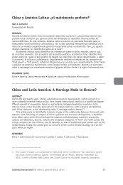 China y América Latina: ¿el matrimonio perfecto?1 China ... - Dialnet
