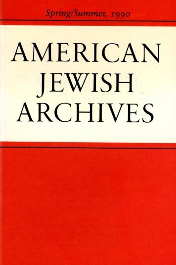 of the American Jewish Experience - American Jewish Archives