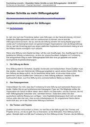 Kapitalstockkampagnen für Stiftungen - Spendwerk