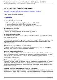 Fundraising innovativ – Newsletter 10 Tests für Ihr E-Mail - Spendwerk